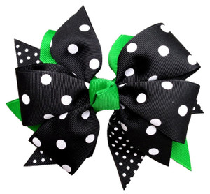 The Kimmie Polka/Swiss- GREEN/BLACK