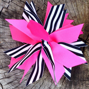 Hot Pink/Black Stripe