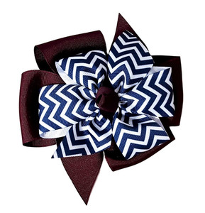 Maroon/Navy Chevron