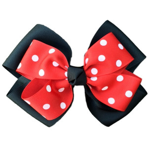 The Siena Marie Polka Dot- Black & Red