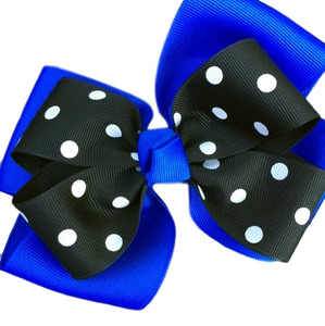 The Siena Marie Polka Dot- Royal & Black