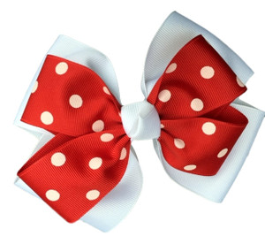 The Siena Marie Polka Dot- Red & White