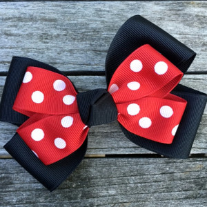 The Siena Marie Junior Polka Dot- Black & Red