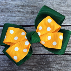 The Siena Marie Junior Polka Dot- Hunter & Gold