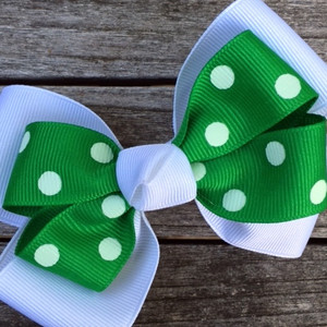 The Siena Marie Junior Polka Dot- Kelly & White