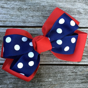 The Siena Marie Junior Polka Dot- Red & Navy Q800PR