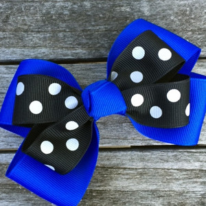 The Siena Marie Junior Polka Dot- Royal & Black