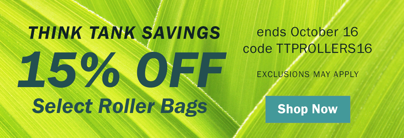 15% Off Think Tank Roller Bags