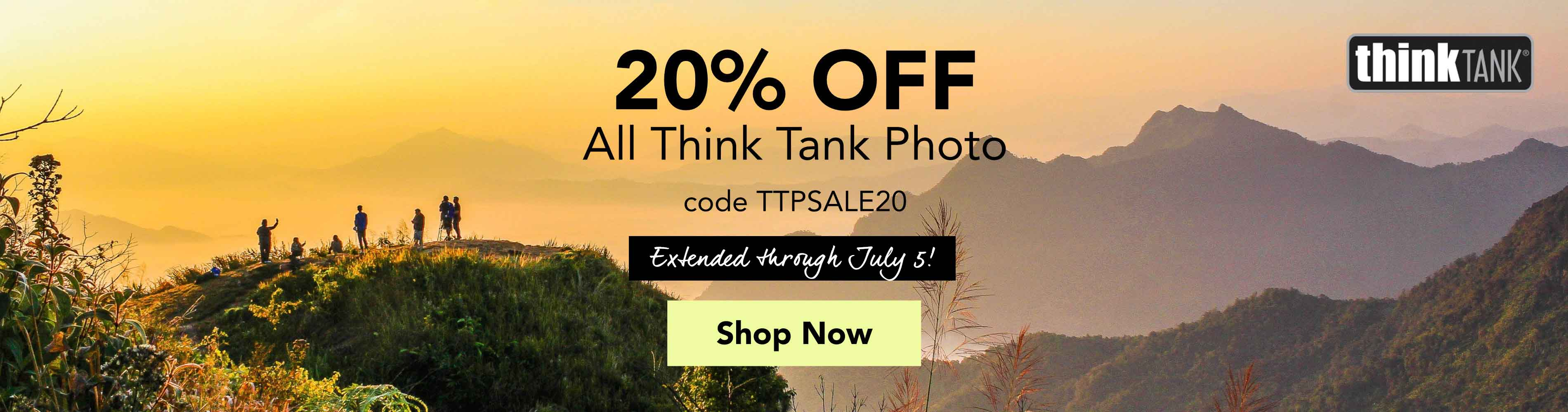 20% Off All Think Tank Photo with code TTPSALE20 extended through July 5! Shop Now >