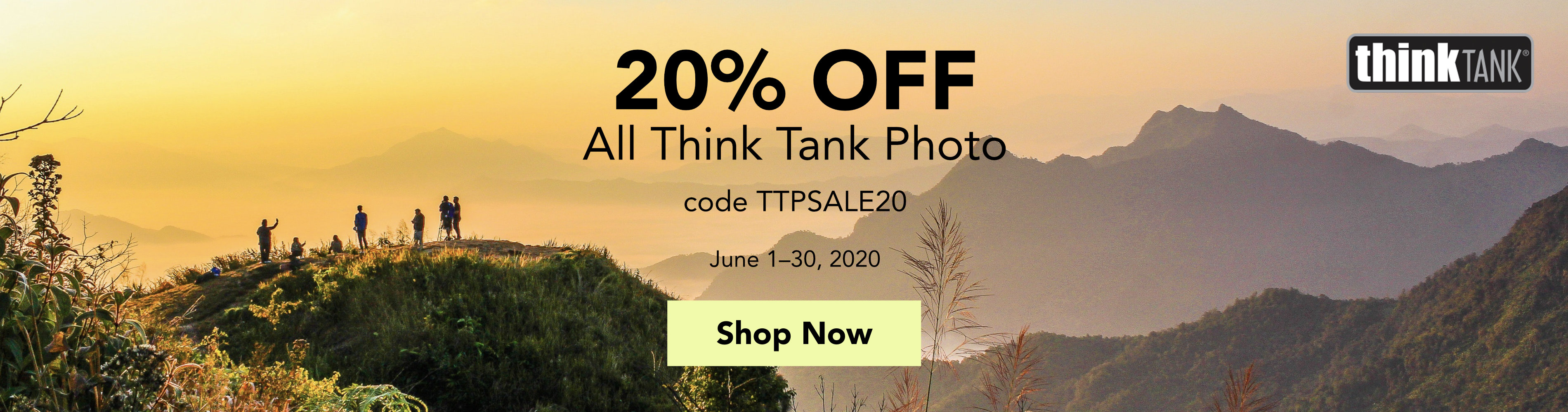 Save 20% on all Think Tank Photo Products through June 30