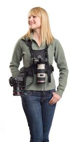 Cotton Carrier Camera Vest w/ Side Holster for 1 or 2 Cameras