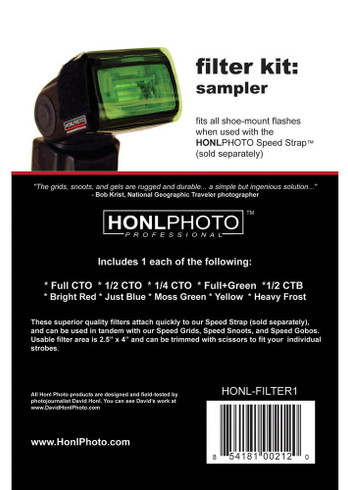 Honl Photo Sampler Filter Kit