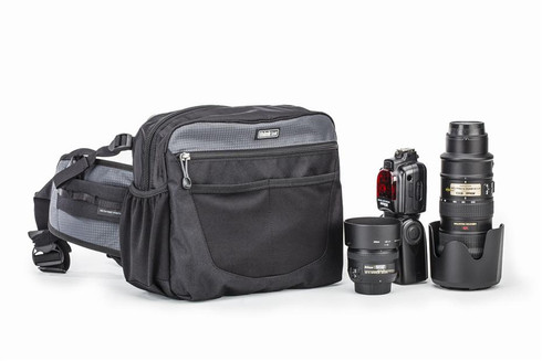 Shoulder bag, chest pack or belt pack, it does all three successfully.