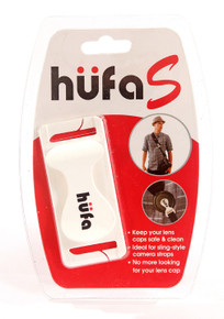 Hufa Lens Cap Holder Clip - Sling Straps in White