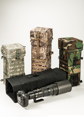 LensCoat Xpandable Long Lens Bag available in Black, Digital Camo, Forest Green Camo and Realtree Max 4