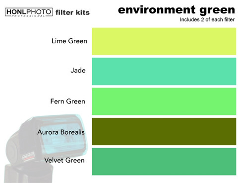 Honl Photo Environment Green Filter Kit