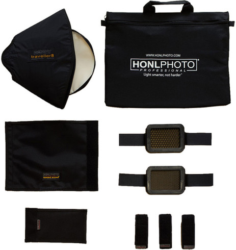 Honl Photo 9 Piece Advanced Small Flash Lighting Kit