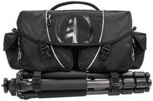 Tamrac Stratus 15 Professional Camera Bag - Front with tripod