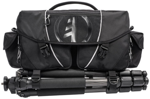 Tamrac Stratus 15 Professional Camera Bag - Front with tripod