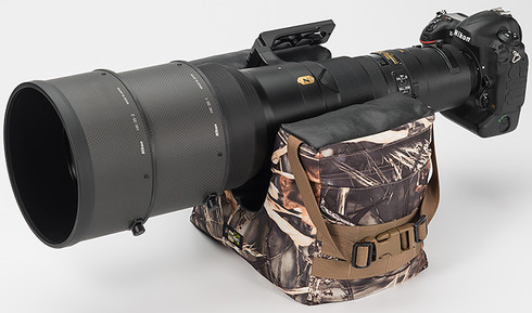 Camera Bean Bag Support pictured in Realtree Max4 HD pattern. Pictured is inverted with a 600 camera lens (not included).