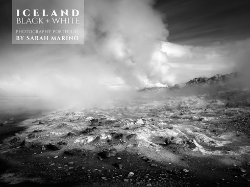 Iceland: Black & White Photography Portfolio by Sarah Marino