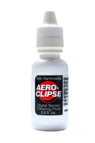 Aeroclipse Digital Sensor Cleaning Fluid comes in a compact 0.5 oz (14.9 ml) bottle.