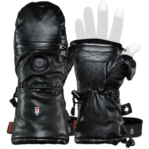Front of full leather shell for HEAT3 Extreme Winter Photography Gloves System (glove liner sold separately).