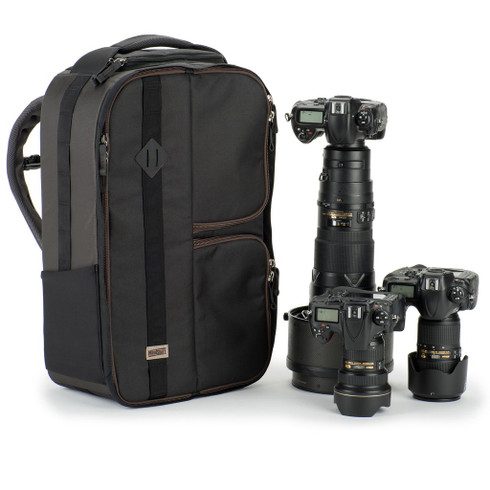 Front right of MP-1 camera backpack with Nikon gear (not included)