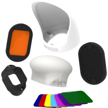 MagMod Professional Flash Kit includes MagGrip, MagSphere, MagBounce, MagGrid, MagGel, and Creative Gels.