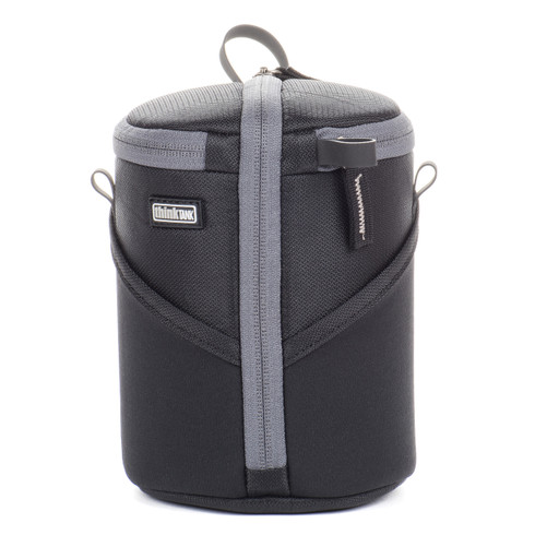 Camera Lens Pouch - Lens Case Duo 20 (pictured in color black with gray trim).