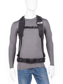 Front view of Pixel Racing Harness v3.0 (belt not included).