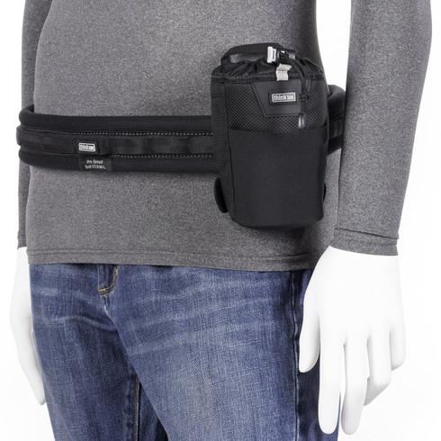 Lens Changer 15 v3.0 is a small modular camera lens pouch that attaches to Think Tank Photo's camera belt system.
