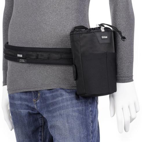 Lens Changer 35 v3.0 Modular Belt Case attached to Think Tank Photo belt (belt not included; sold separately).