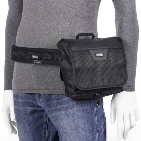Skin Changer Pop Down v3.0 pictured attached to Think Tank Photo belt (belt not included; sold separately).