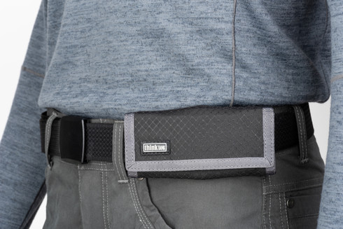 Think Tank Photo Secure Pixel Pocket Rocket (black) on belt
