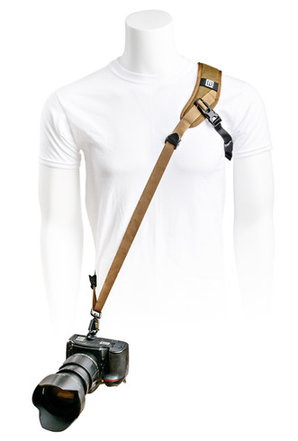 Sport X Camera Strap shown in Coyote color (camera not included)