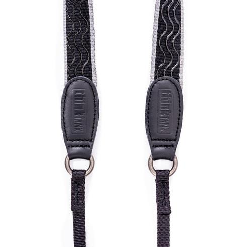 Lightweight camera strap in Black with Grey trim