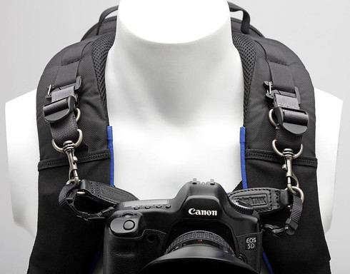 Camera Support Straps shown attached to a camera