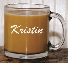 Personalized Glass Coffee Mug