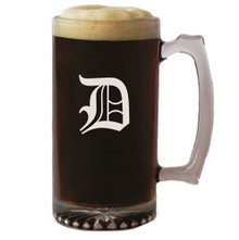 Personalized 16 oz Beer Mug with Initial