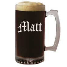Personalized 16 oz Beer Mug