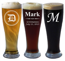 Personalized Pilsner Beer Glass - 16 oz