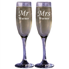 Personalized Champagne Glass Toasting Flute - Set of 2