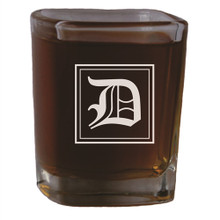 Personalized Square 2.5 oz Shot Glass with Initial