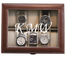 Personalized Brown Watch Box