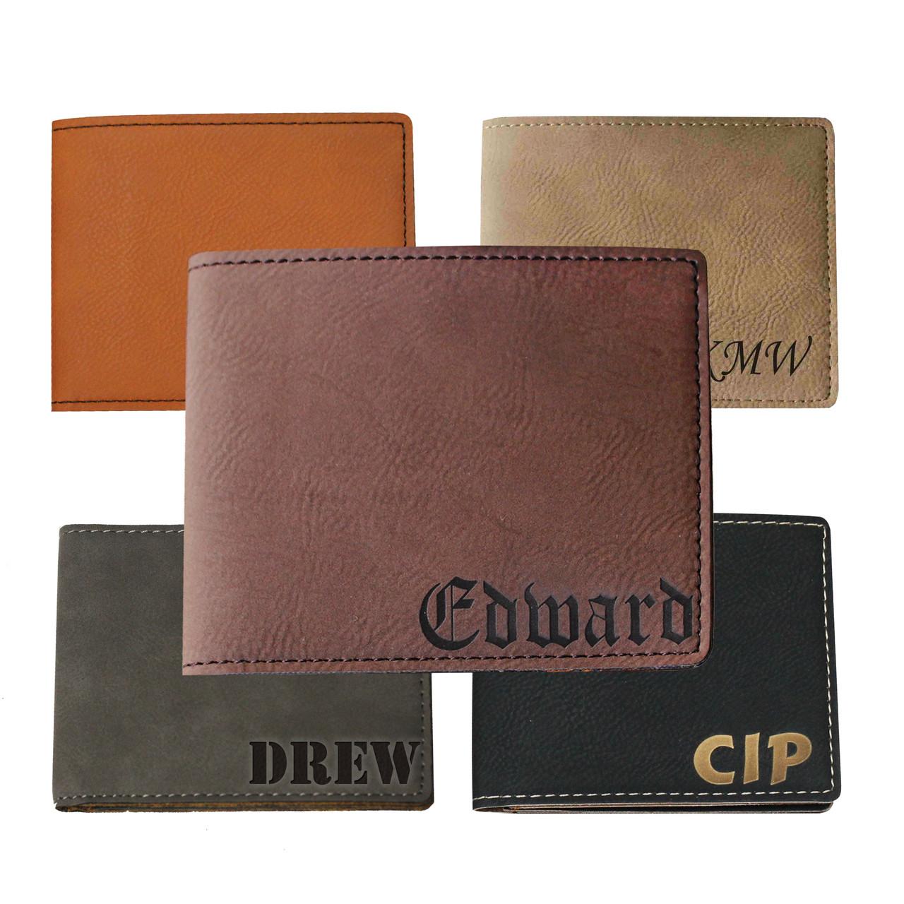 651be6d2856 ... Engraved Leather Bi-Fold Wallet. Image 1. Loading zoom