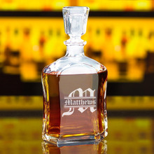 Personalized Whiskey Decanter with Name and Initial
