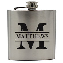 Personalized Silver Groomsmen Flasks