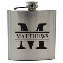 Personalized Silver Groomsmen Flasks
