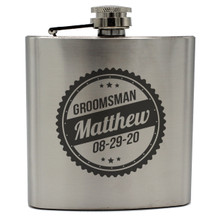 Custom Engraved Hip Flasks for Groomsmen